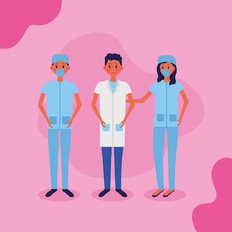 Illustration vectorielle de personnel médical