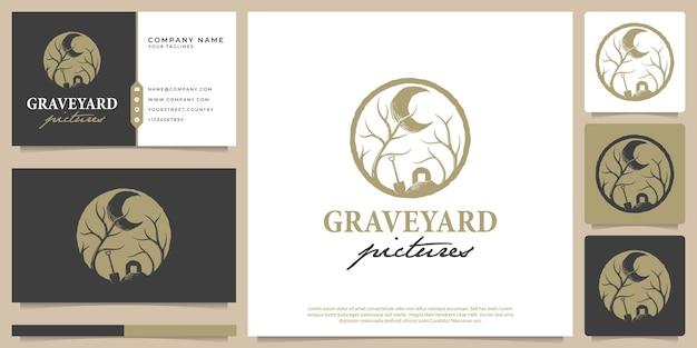 Illustration vectorielle de photos de cimetière