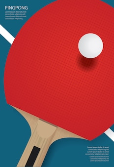 Illustration vectorielle de ping-pong