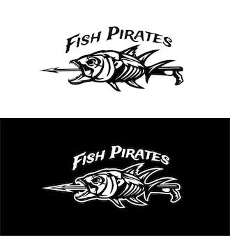 Illustration vectorielle de pirates de poisson