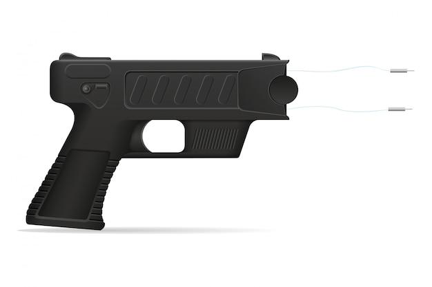 Illustration vectorielle de pistolet paralysant arme autodéfense