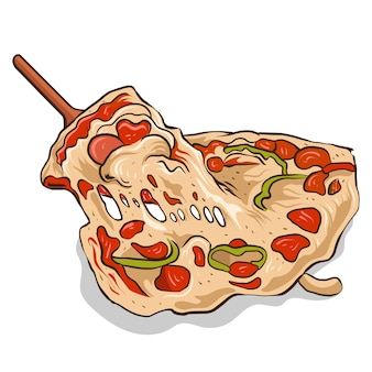 Illustration vectorielle pizza isolé