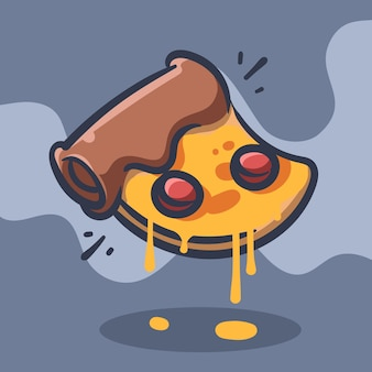 Illustration vectorielle de pizza