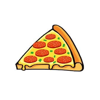 Illustration vectorielle de pizza