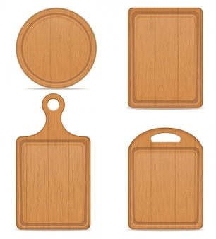 Illustration vectorielle de planche à découper en bois