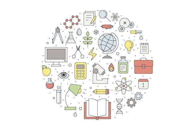 Illustration vectorielle plane d'apprentissage en ligne