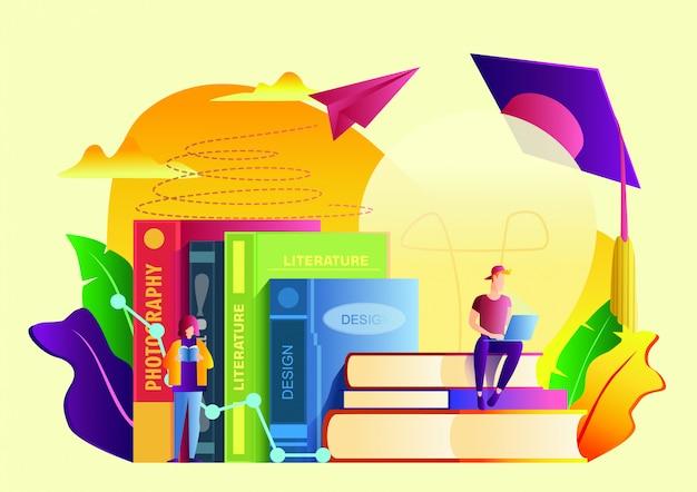 Illustration vectorielle plane de l'éducation.