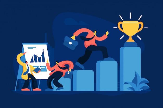 Illustration vectorielle plane de promotion de l'emploi