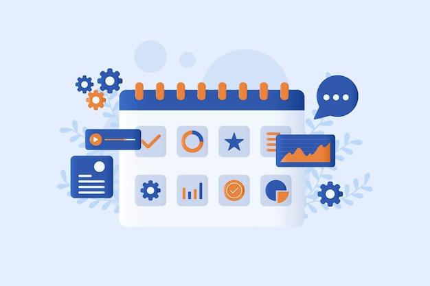 Illustration vectorielle de planification d'entreprise
