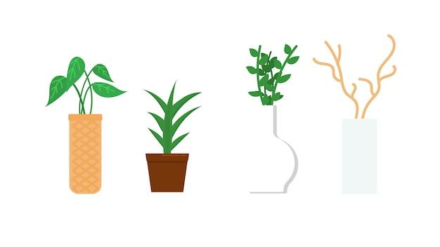 Illustration vectorielle de plantes isolées