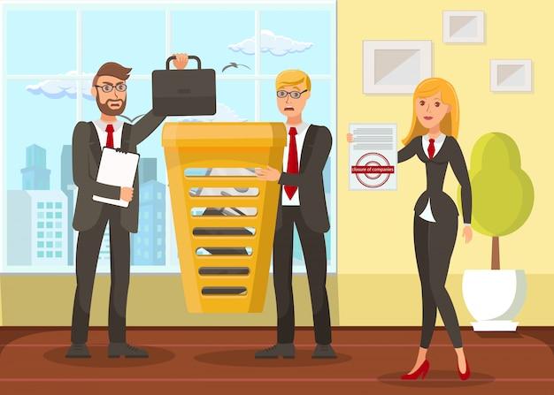 Illustration vectorielle plat business liquidation