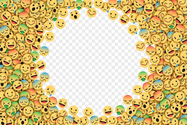 Illustration vectorielle plate facebook emoji