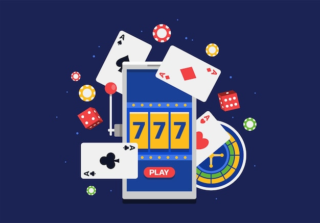 Illustration vectorielle de la plate-forme de jeu en ligne