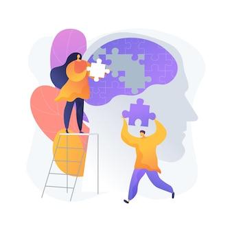 Illustration vectorielle de pleine conscience concept abstrait. méditation consciente, calme mental et conscience de soi, concentration et libération du stress, métaphore abstraite du traitement à domicile alternatif de l'anxiété.