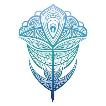 Illustration vectorielle de plume de paon coloré.