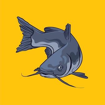 Illustration vectorielle de poisson-chat