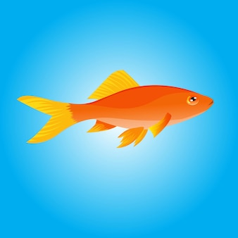 Illustration vectorielle de poisson d'or dessinés à la main pour l'éducation du livre d'images à l'école