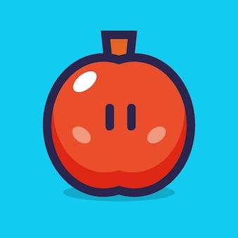 Illustration vectorielle de pomme dessin animé