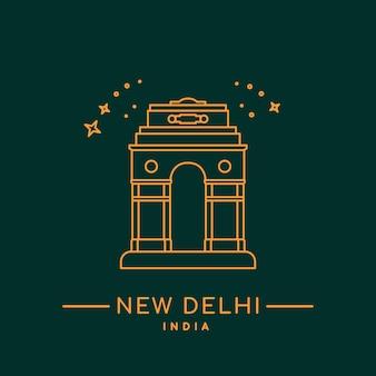 Illustration vectorielle de porte de delhi