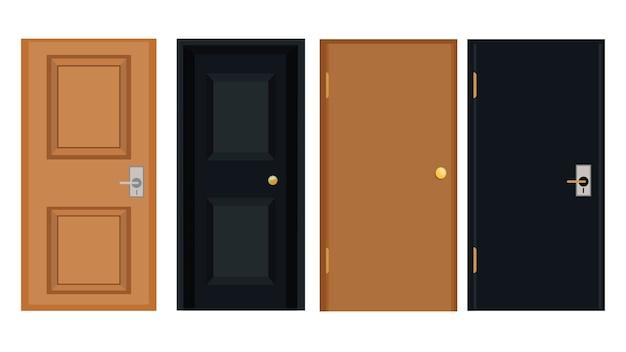 Illustration vectorielle de portes isolées