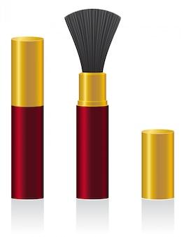 Illustration vectorielle de poudre pinceau
