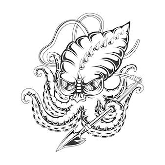 Illustration vectorielle de poulpe