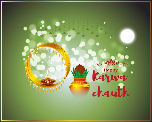 Illustration vectorielle pour la bannière karwa chauth