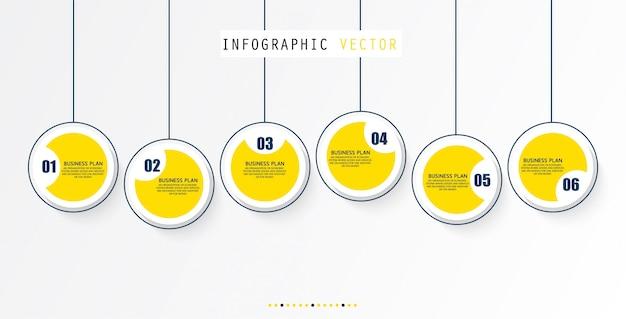 Illustration vectorielle pour les diagrammes infographiques
