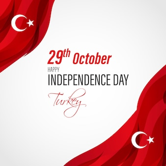Illustration vectorielle pour le jour de l'indépendance de la turquie 29 octobre