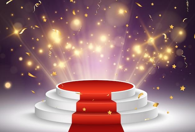 Illustration vectorielle pour les lauréats piédestal ou plate-forme pour honorer les lauréats
