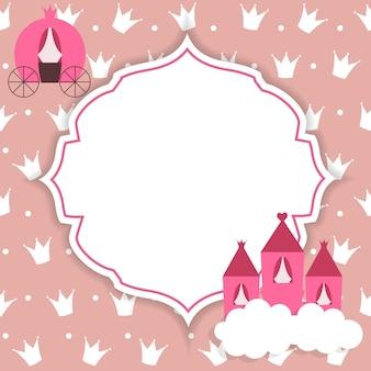 Illustration vectorielle de princesse abstrait.