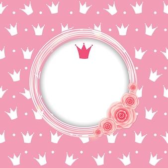 Illustration vectorielle de princesse couronne fond.