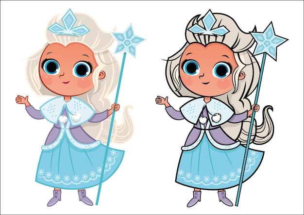 Illustration vectorielle de princesse des neiges