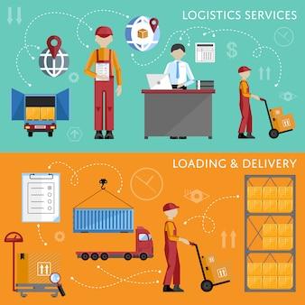 Illustration vectorielle de processus d'entrepôt infographie