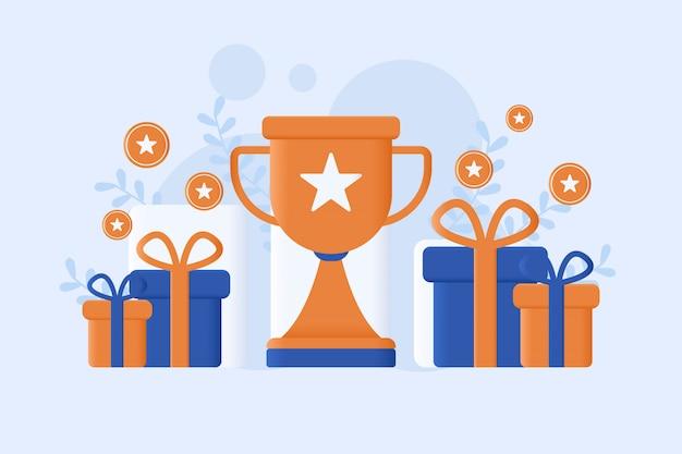 Illustration vectorielle de programme de récompense