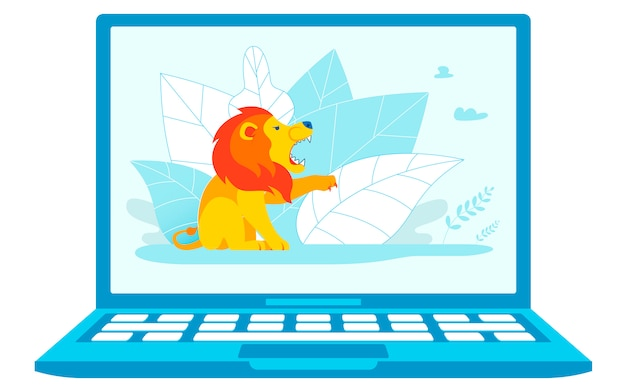 Illustration vectorielle de protection de système informatique