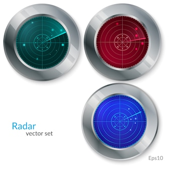 Illustration vectorielle de radar set