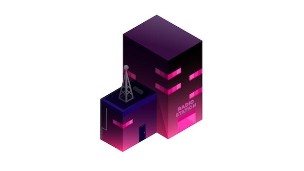 Illustration vectorielle de radio station isolée