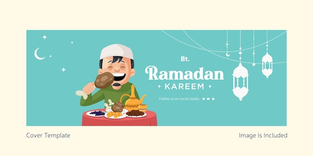 Illustration vectorielle de ramadan kareem de la page de garde