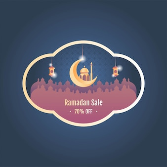 Illustration vectorielle de ramadan sale banner