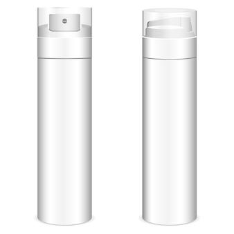 Illustration vectorielle réaliste de bouteille de mousse de rasage