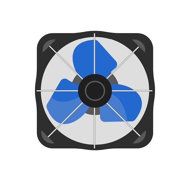 Illustration vectorielle réaliste de ventilateur d'air de boîte