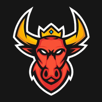 Illustration vectorielle de red bull mascotte logo design