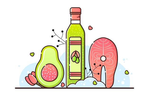 Illustration vectorielle de régime céto