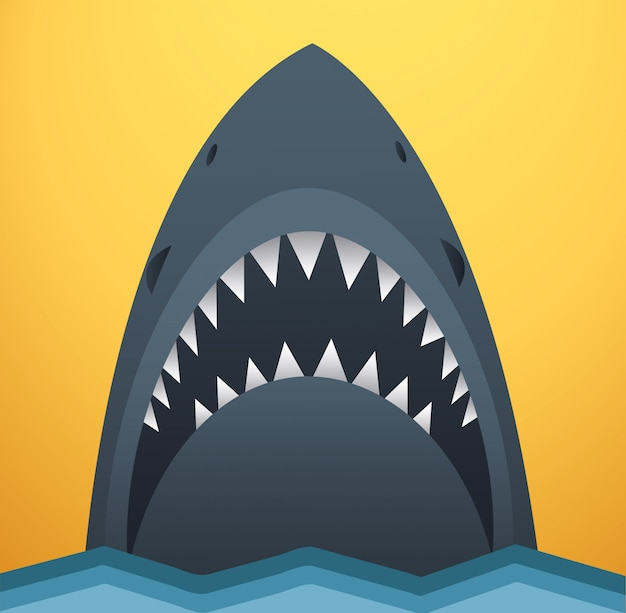 Illustration vectorielle de requin