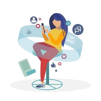 Illustration vectorielle de réseau social