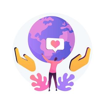 Illustration vectorielle de responsabilité concept abstrait. position de gestion, obligation personnelle, responsabilité sociale, devoir du citoyen, décision responsable, métaphore abstraite de la responsabilité financière.