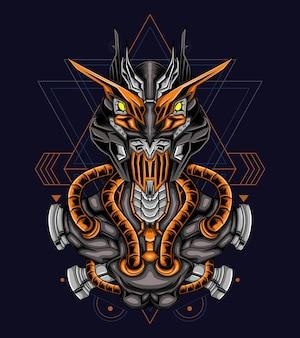 Illustration vectorielle de robot mascotte logo