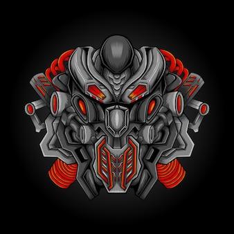 Illustration vectorielle de robotique alien artwork