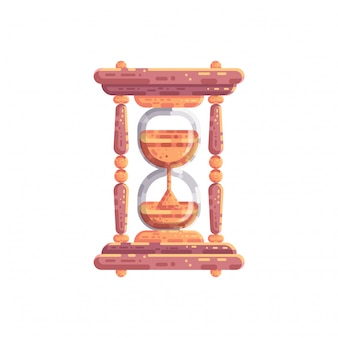 Illustration vectorielle de sablier horloge de sable